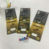 Buy cheap Mangum Gold Capsule Pill Blister Card Packaging Silk Printing With Insert / from wholesalers