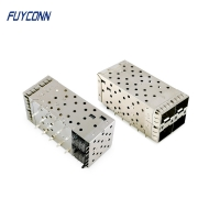 Cheap 40pin 2*2 4port Female Press Pin SFP+ Cage Connector wholesale