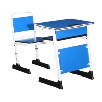 Buy cheap Metal Children Pantone Color Double Student Desk And Chair School Furniture from wholesalers