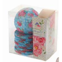 Cheap Red Battery Operated Lantern String Lights Paper Material With Rose Flower Patterned wholesale