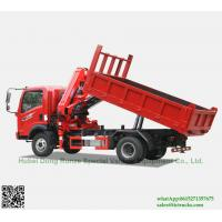 Cheap Custermizing  4x2  tipper truck with SQ80ZB2(3.2T) at 2 m Knuckle Boom Truck Mounted Crane sale App:8615271357675 wholesale