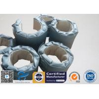 Cheap High Temperature Grey Silicone Fiberglass Removable Thermal Insulation Covers , Flange Thermal Covers wholesale