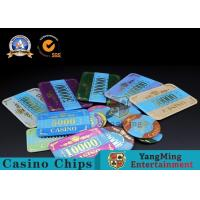 Cheap Marble Acrylic Crystal European Casino Poker Chips / Wear Resistance Casino Jetons wholesale