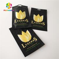 Buy cheap Smell Proof Custom Printed Sative Leaves Packaging Smoking Weed Bags For Tobacco from wholesalers