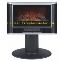 Cheap Indoor Black Frame 2 in 1 Freestanding Fireplace Heater With Silver Bar wholesale