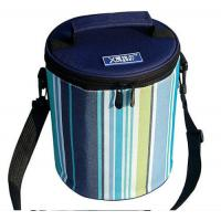 Cheap Cylindric Insulated Cooler Bags , Portable Wine Cooler BagTop Round Zipper wholesale