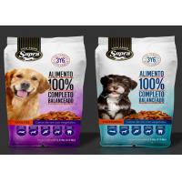 Cheap Food Grade Aluminum Foil Stand Up Pouch , Laminated Pet Dog Food Zip Lock Plastic Bags wholesale