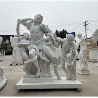 Cheap Museum exhibition marble sculptures Laocoon replica stone statue,stone carving supplier wholesale