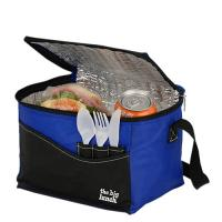 Cheap Blue Waterproof Insulated Cooler Bags , Thermal Lunch BagPolyester 40*30*30cm wholesale