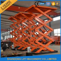 Cheap Adjustable Hydraulic Stationary Warehouse Mechanical Scissor Lift , Hydraulic Scissor Lift wholesale