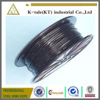 Cheap BLACK Vinyl Coated Wire Rope Cable 1/16 - 3/32 , 7x7 wholesale