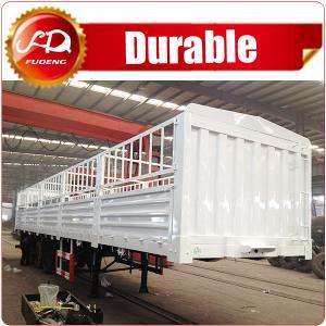 Cheap Shandong Fudeng 3 axles Sugarcane Loading Cargo Trailer 40T Fence Semi Trailer for sale wholesale
