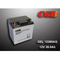 Cheap 12V 28AH Gel Lead Acid Battery , EPS Vrla Rechargeable Battery Non Spillable wholesale
