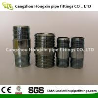 Cheap ASTM A53 Steel pipe NPT thread steel pipe nipple with hot dip galvanized wholesale