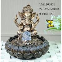 Cheap Indian Polyresin Water Fountain With Revolving Ball , Electricity Pump Power for sale