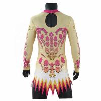 Cheap Rhythmic Cool Gymnastics Leotards Sublimation Printing With Back Invisible Zipper wholesale