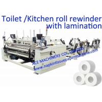 China 1800mm Toilet Paper Manufacturing Machine With Embossing on sale