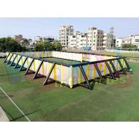 Cheap Giant Inflatable Sports Arena , 0.4mm PVC Tarpaulin Commercial Inflatable Paintball Field wholesale
