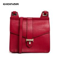 Cheap Red Saffiano Leather Shoulder Bags , Hard Ladies Stylish Leather Purse wholesale