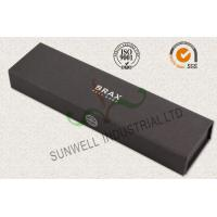 Cheap Luxury Black Color Office Paper Box , Spot UV Coating Cardboard Packing Box wholesale