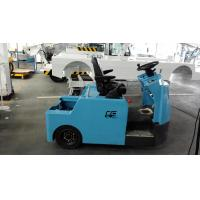 Cheap Blue Baggage Towing Tractor Carbon Steel Material With Lead Acid Battery wholesale