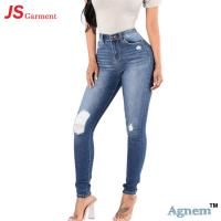 Fashion Summer Casual Jeans Pants For Womens Breathable Mid Waist