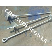 Cheap 30 Inch Steel Earth Screw Anchors Hot Dip Galvanized With ISO9001 Standard wholesale