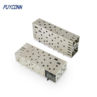 Cheap Small Form Factor Pluggable Stacked Multi Port 40pin SFP Connector wholesale