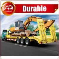 Cheap Widely Used Heavy Duty 3 Axles 60-100ton Low Bed Truck Semi Trailer For Sale wholesale
