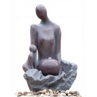 Cheap Fiberglass Polyresin Kid And Mother Copper Water Fountains For Home & Garden wholesale