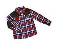 Cheap Custom Red / Blue Casual Cotton Kids Plaid t shirts,  fromal shirts For 3 - 14 year wholesale