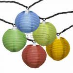 Cheap Room Essentials Paper Lantern String Lights , Colored Lantern String Lights Blue Dots Printed wholesale