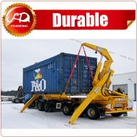 Cheap Container Side Loading Lift Side Lifter Truck Semi Trailer with loader for sale wholesale