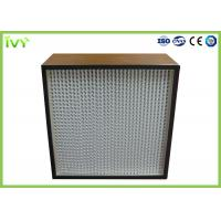China H13 H14 Deep Pleated Hepa Filter With Corrugated Aluminum Foil Separator on sale
