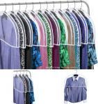 Cheap Transparent Plastic Dust-proof Closet Garment Shoulder Cover Plastic Dust-Proof Suits Cover Hanger wholesale