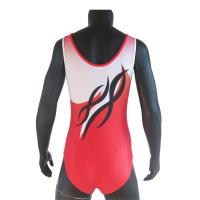 Cheap Red Colors Breathable Cool Gymnastics Leotards For Training Dancing wholesale