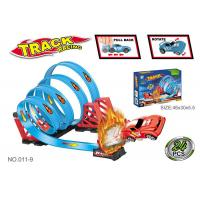 Cheap 47.6 Inche Funny Toy Car Tracks Sets , Toddler Race Track With 4 Consecutive Loops wholesale