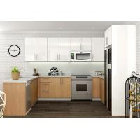 Quality Canada Maple Wood Veneer Kitchen Cabinets Colorful Quartz Top Traditional Vintage for sale