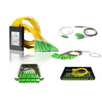 Buy cheap 1x2,1x4,1x8,1x16,1x32 1x64 Fiber Optic PLC Splitter with SC connector optical from wholesalers