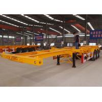 Cheap CIMC 20 multi function skelly container trailer double axle flat top fixed skeletal trailer for sale wholesale