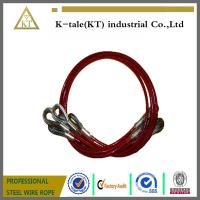 Cheap 7x19 Red PVC Coated Wire Rope Sling with two eye wholesale