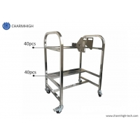 Cheap Storage Cart SMT Feeder Trolley Aluminum Alloy SS Matieral For Yamaha YV Machine wholesale