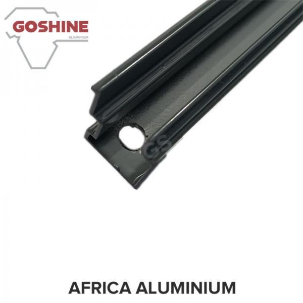 Quality Black powder coated aluminium extrusion profile for aluminium handrail for sale