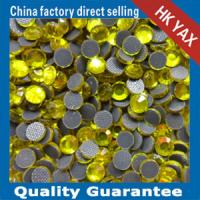 China lead free hot fix beads citrine color on sale