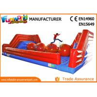 Cheap Interactive 0.55mm PVC Tarpaulin Inflatable Sports Games / Inflatable Wipeout Game wholesale