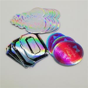 Cheap Waterproof Oil-Proof Vinyl Holographic Foil Laser Die Cut Label Custom Company Logo Stickers wholesale