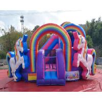 Cheap Durable PVC Inflatable Unicorn Bouncy House For Birthday Party Quadruple Stitching wholesale