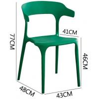 Cheap Plastic Dining Chair , One Piece Environmental Protection Stacked Pp Seat wholesale