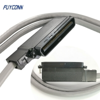 Cheap 64 Pin 32 Pairs IDC Cable Assembly With IDC Connector 90 Degree Outlet Assembled wholesale