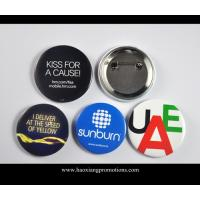 Cheap Custom Full Color Printed Logo Clear Lamination Round Tin Button Badge wholesale